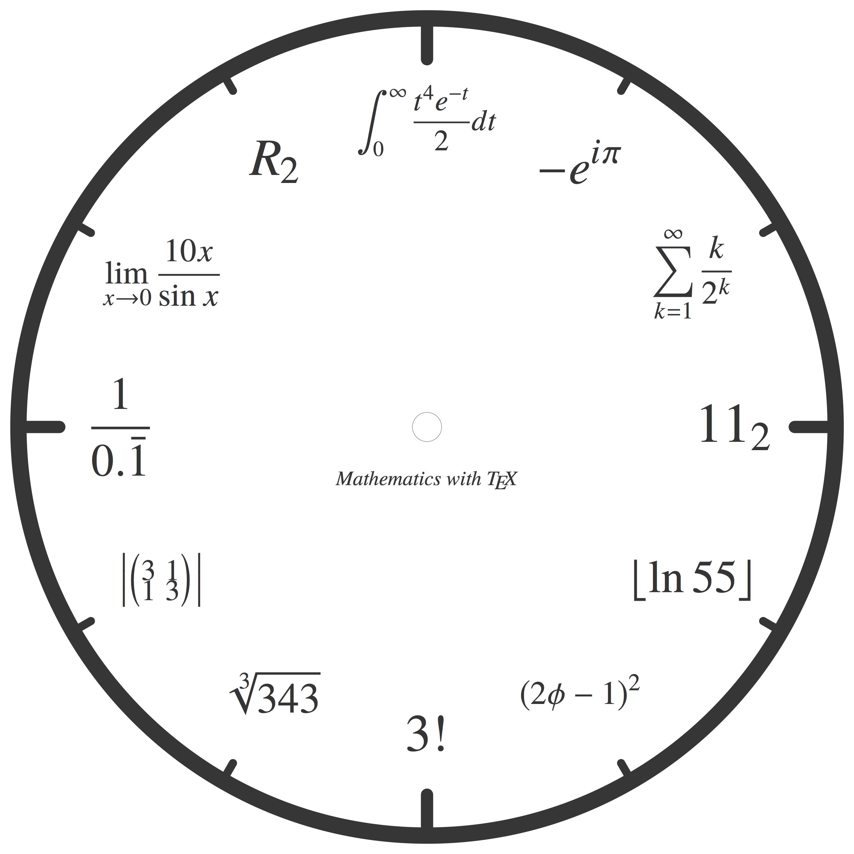 数学な時計デザイン