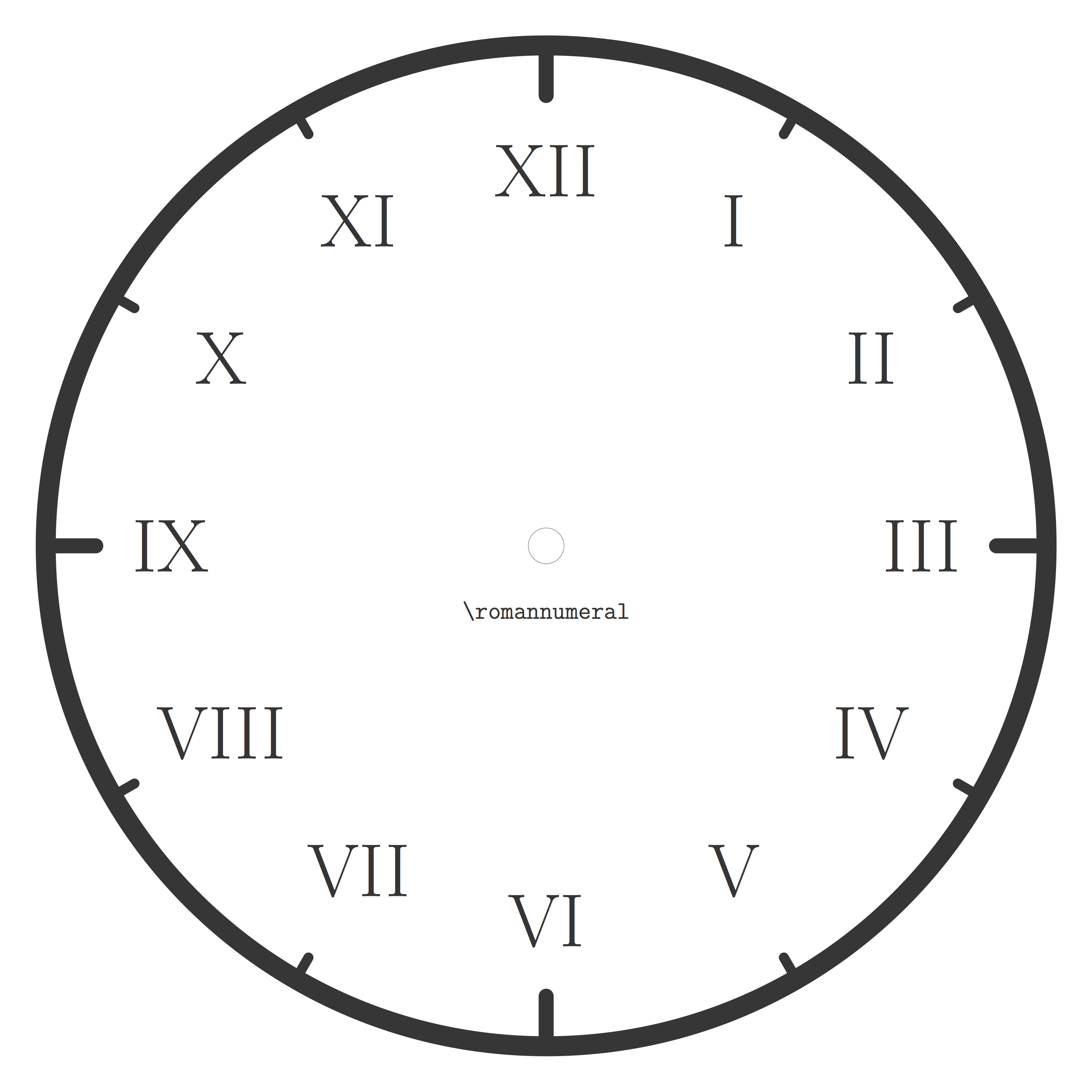 ローマ数字の時計デザイン